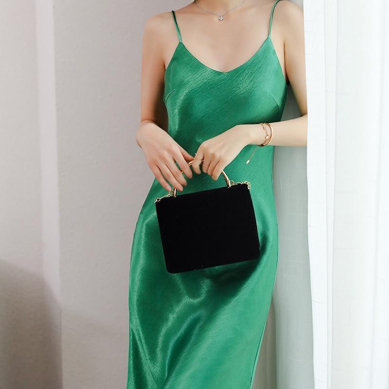 Bella philosophy 2020 Women Satin Camisole Long Dress lady Faux Silk Spaghetti Strap Thin Dress female V-neck Casual vestidos