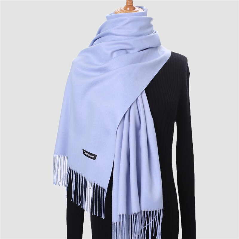 2020 bufanda de invierno para las mujeres de Cachemira cálido bufandas hijab sólidos de dama chal mujer pashmina pañuelo pañuelos para la cabeza echarpe