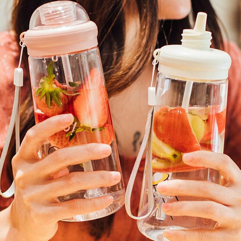 Botellas De Agua bonitas De paja personalizadas, creativas, diseño práctico Simple, Botellas...