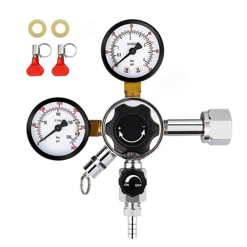 منظم ضغط Co2 للتخمير المنزلي, منظم ضغط مزدوج المرحلة W21.8/ CGA 320 لمراقبة برميل البيرة ، خزان Co2
