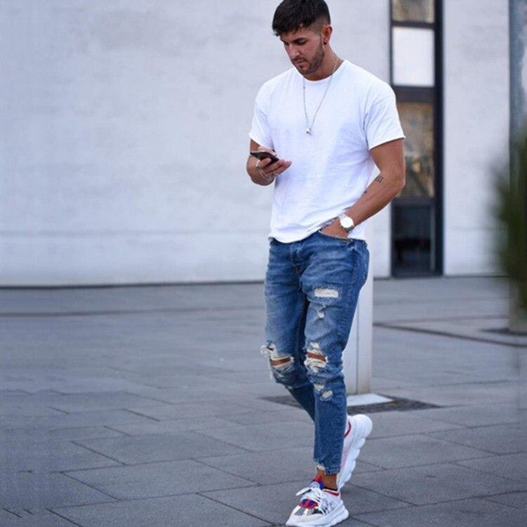 Фото - 2021 осень и зима новый стиль международная торговля Мужские джинсы Рваные штаны мужские джинсовые брюки андрей масловский азак международная и региональная торговля