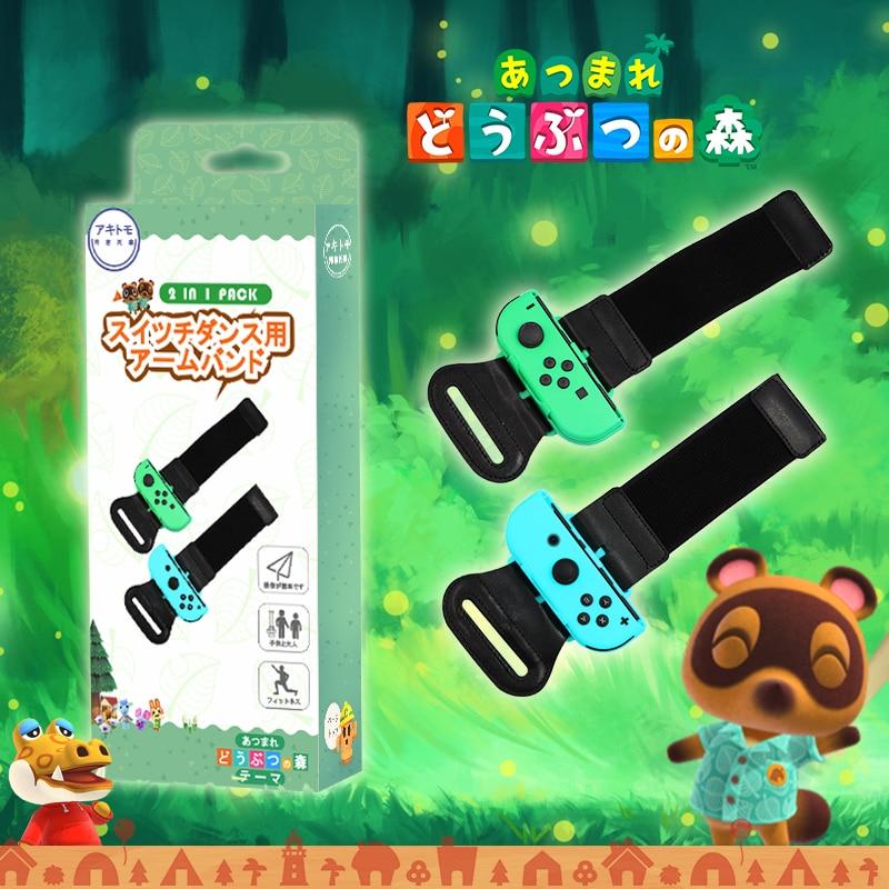 Nintend interruptor acessórios jogo banda de pulso ns interruptor joy-con controlador animais ajustáveis cruzando ns pulseira alças de mão
