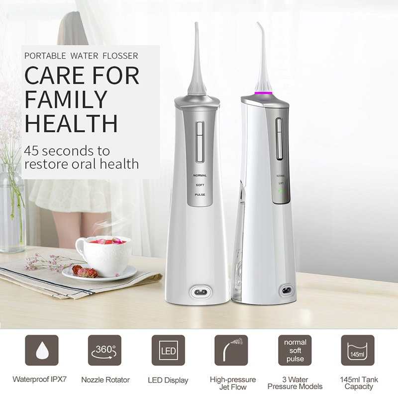 Irrigador de agua Dental Power Irigator para limpiar la cavidad Oral, irrigador eléctrico, limpiador de dientes de Cuidado Oral, chorro de agua