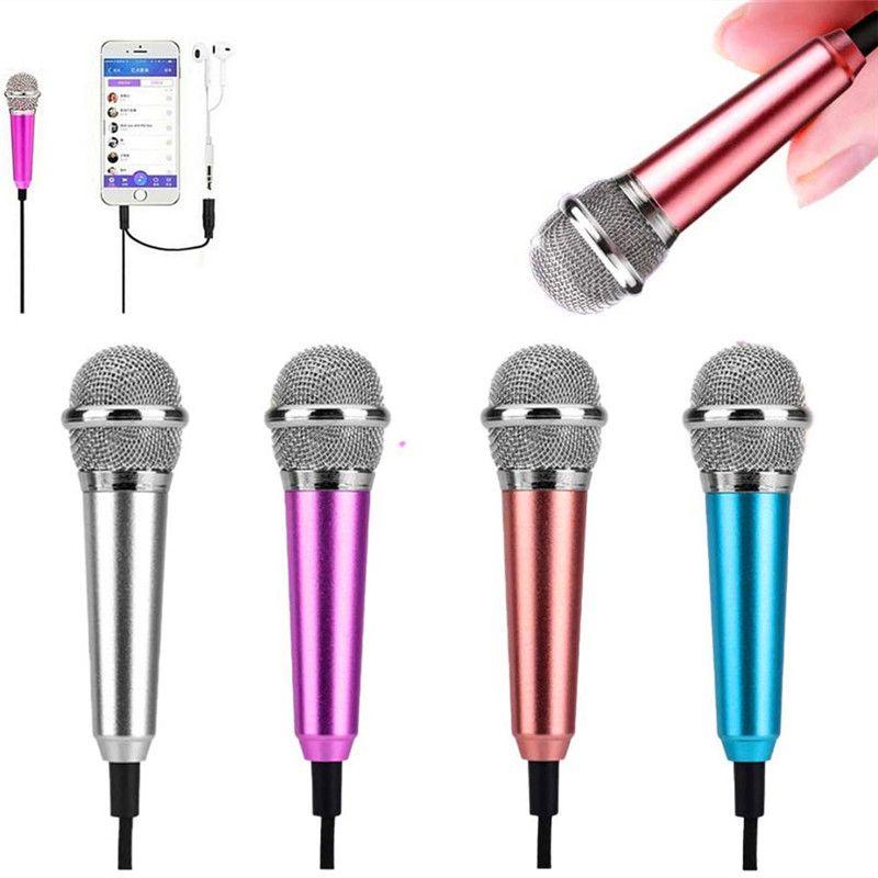Minimicrófono con cable de 3,5mm, Conector de Audio para IPhone, Samsung, Android,...
