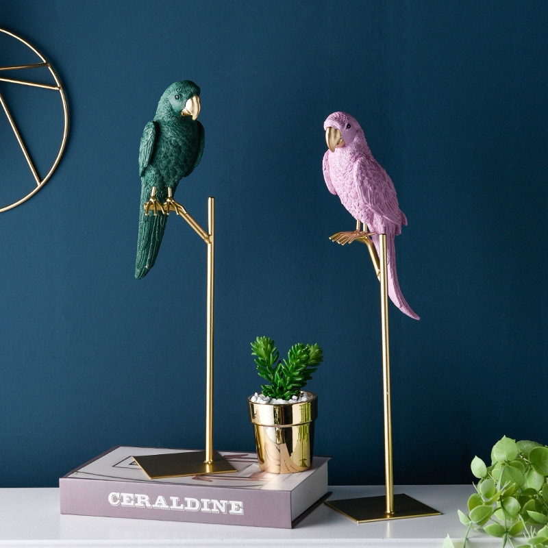 European Resin Bird crafts Bedroom decorations Animal Figurines Miniatures Home Decoration Living Room Ornaments Crafts