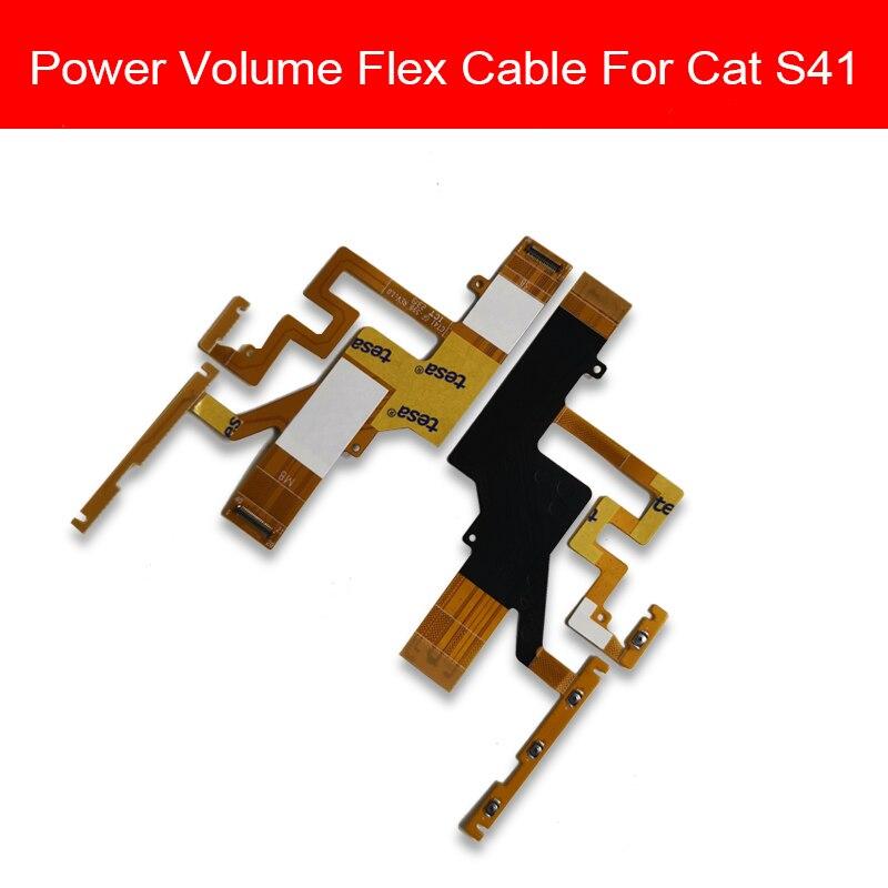 Cable flexible de volumen arriba/abajo para Cat S41 botón de Control de encendido/apagado Cable de cinta flexible piezas de repuesto de reparación