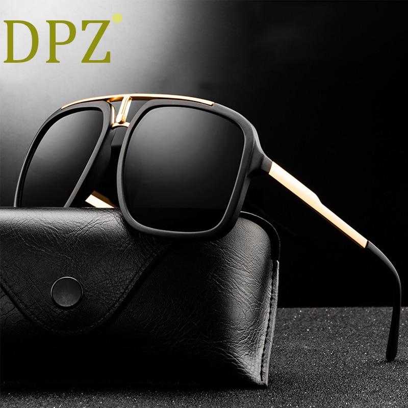 2020 DPZ New fashion retro trend men's sunglasses big frame metal couple frog mirror woman pilot sun