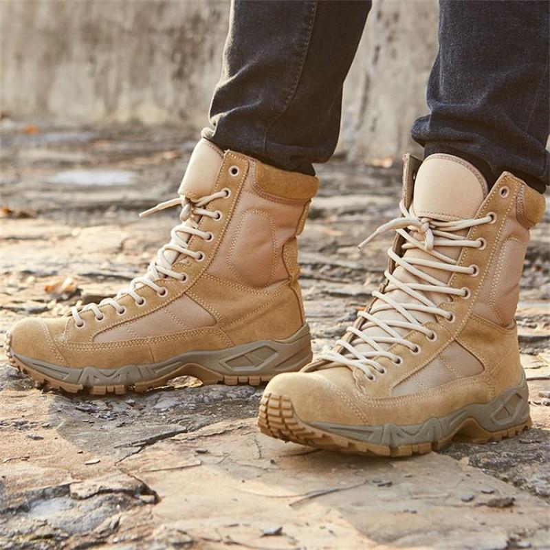 الربيع الصيف الرجال النساء Ultrallight التكتيكية الأحذية العسكرية في الهواء الطلق الأحذية المحمولة جوا سلاح الجو الصحراء أحذية قتالية الجيش