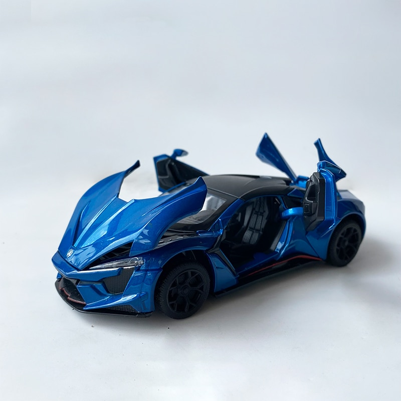 1:32 Alloy Speed Movie Lycan Sports Toy Car Model Metal Matte Diecast Sound Light Pull Back Supercar Toy Vehicle Kids Gift