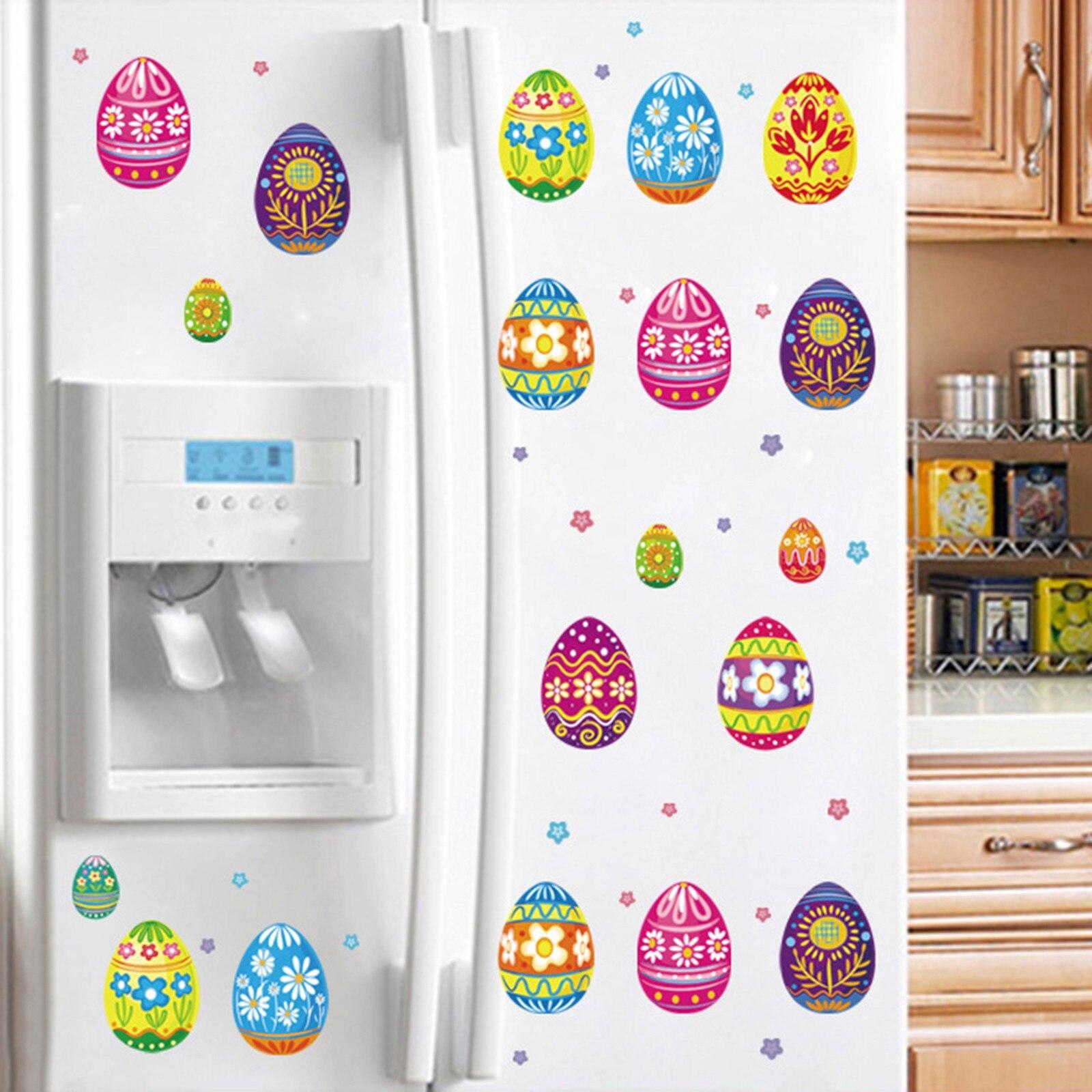 Imán de conejo de pascua, calcomanía para refrigerador, decoración de dibujos animados...