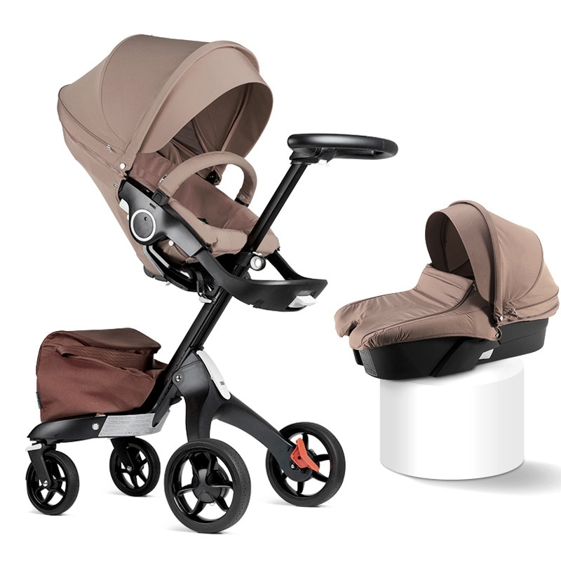 High Quality Baby Stroller High Field View Foldable Lightweight Two-way Stroller Sitting Reclining Stroller  Hot Mom's Baby