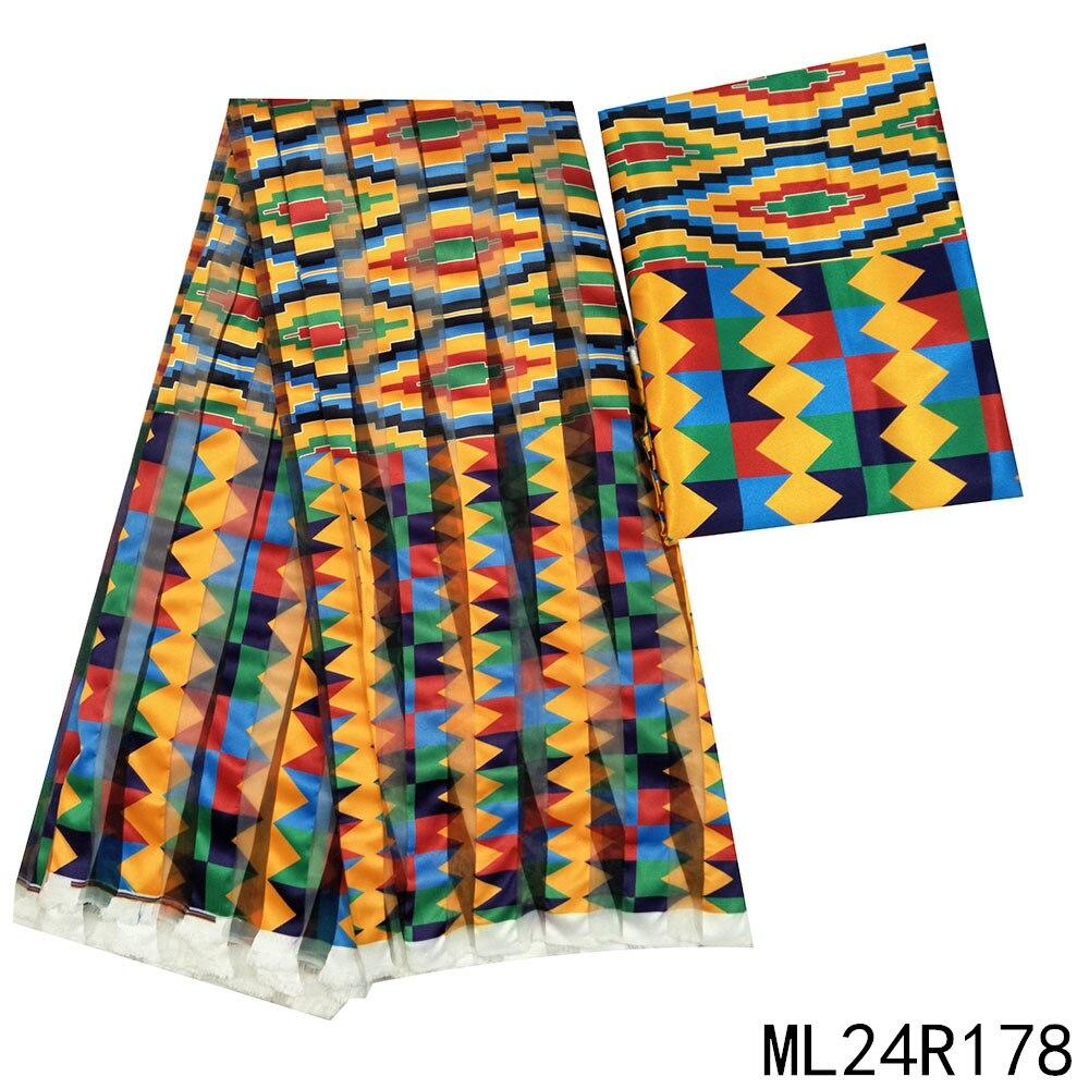 LIULANZHI Анкара ленты ткани 4 ярдов и 2 ярдов сатин для платья шитья африканские органзы ленты ML24R117-189