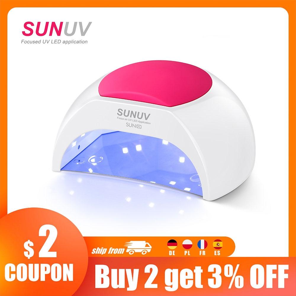 aliexpress.com - SUNUV SUN2C 48W Nail Lamp UV Lamp SUN2 Nail Dryer for UVLED Gel Nail Dryer Infrared Sensor with  Rose Silicone Pad Salon Use
