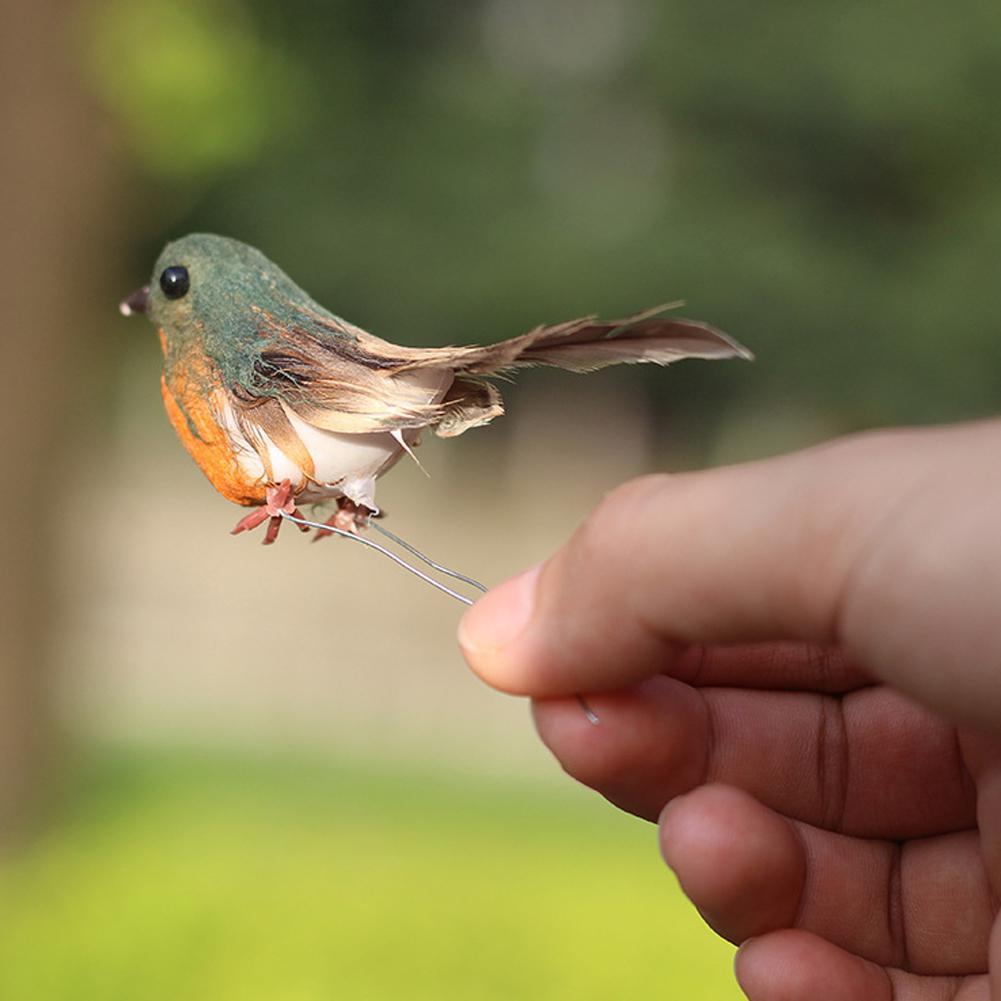 12 piezas creativa de pluma de espuma Artificial de simulación de pájaro de Robin colgante árbol de navidad niños juguete regalo en la decoración del Clip