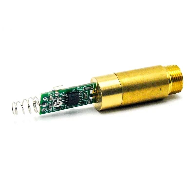 ПРОМЫШЛЕННЫЙ 532 нм 10 мВт зеленый лазер точка модуль диод w драйвер 3,7 В