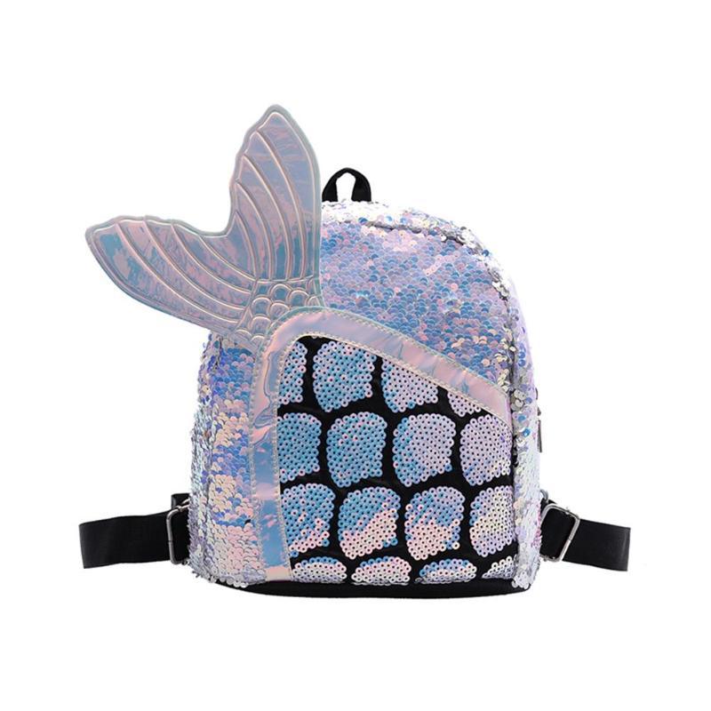 Mochila de lentejuelas para niña, bonita mochila escolar con cremallera de sirena para niños, bolso de viaje de hombro para mujer y Chica, mochila de moda