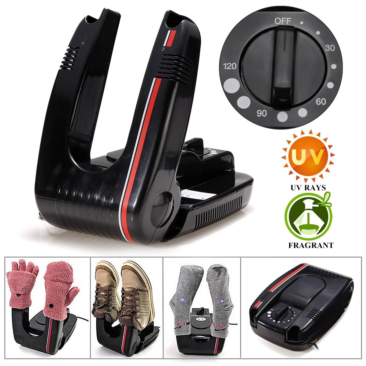مجفف أحذية كهربائي يعمل بمؤقت ، مجفف أحذية كهربائي ذكي مع مؤقت لتعقيم وإزالة الروائح الكريهة