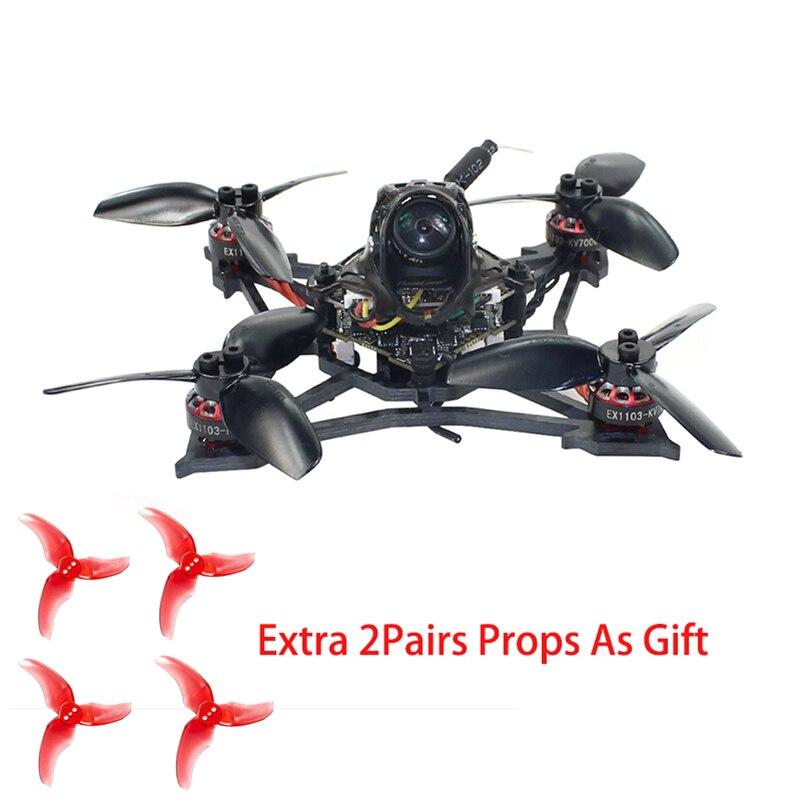 Happymodel يرقة X 2-3S 2.5 بوصة فرش FPV سباق Drone 100 مللي متر Crazybee F4 برو V3.0 AIO الطيران المراقب كاميرا 25mw ~ 200mw VTX