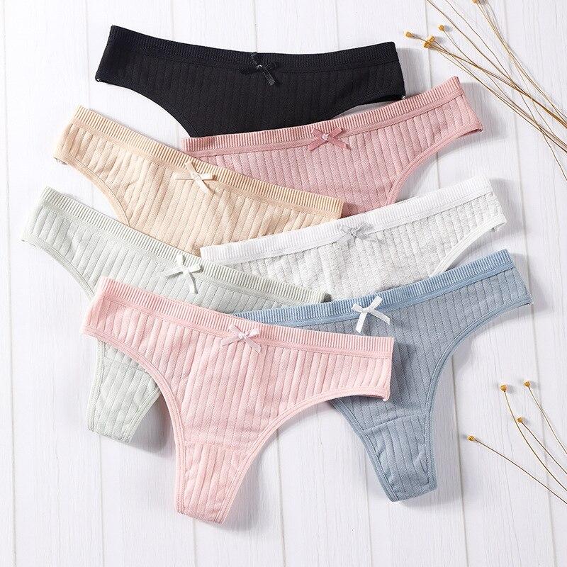 Mulheres sexy calcinha de algodão calcinha de cintura baixa g-string briefs meninas senhoras cuecas femininas lingerie dropshipping
