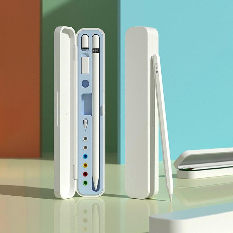 Чехол для Apple pencil 2, футляр для хранения Apple Pencil 1nd Gen, аксессуары для сенсорных планшетов и ручек, портативный жесткий чехол, чехол для путешес...