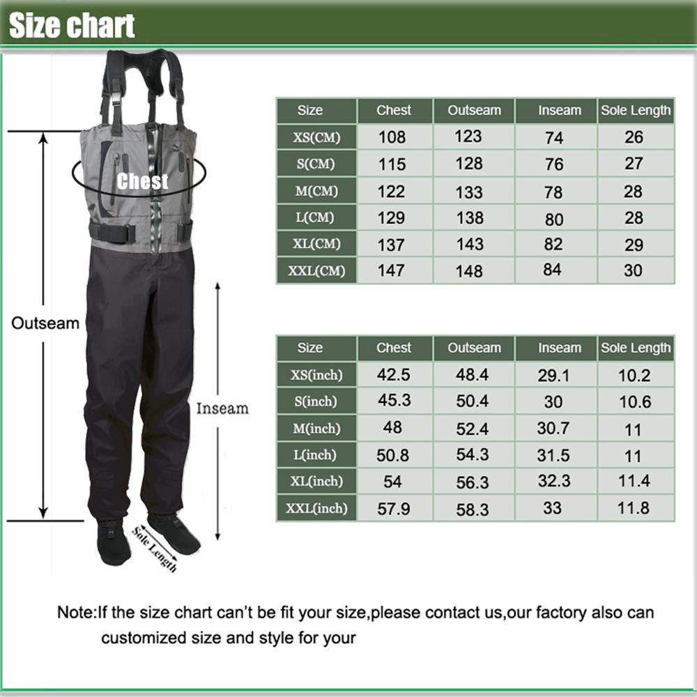 Men s Fishing Chest Waders 3-Ply Durable Breathable and Waterproof with Neoprene Stockingfoot Insulated Fishing Hunting Apparel enlarge