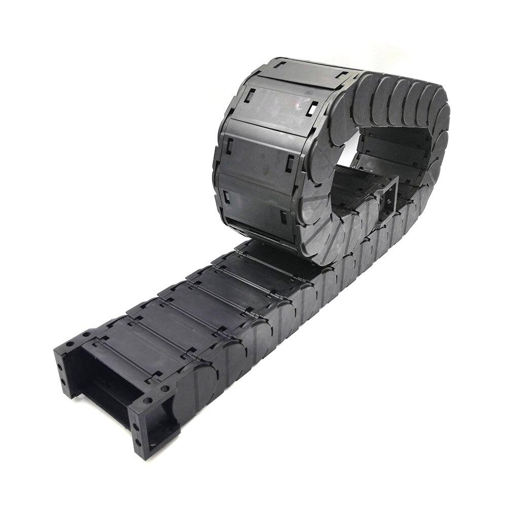D35x25mm مغلق كابل سلسلة سحب نقل محرك نصف منخفض الضوضاء ل ماكينة بتحكم رقمي بالكمبيوتر أدوات سلك الناقل قناة شحن مجاني