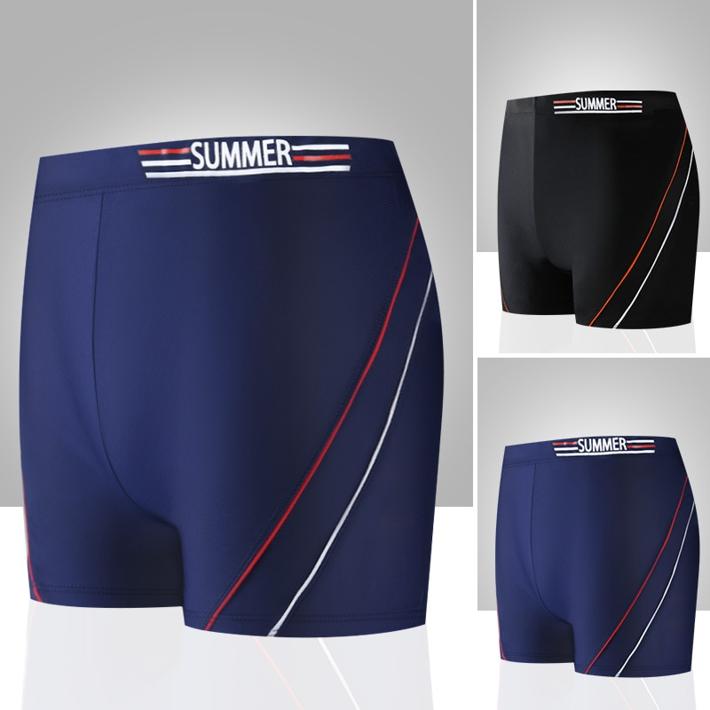 MEN'S Swimming Trunks Fashion Comfortable Dry Breathable Relaxed Seaside Holiday Four Corners Swimming Shorts YK099911