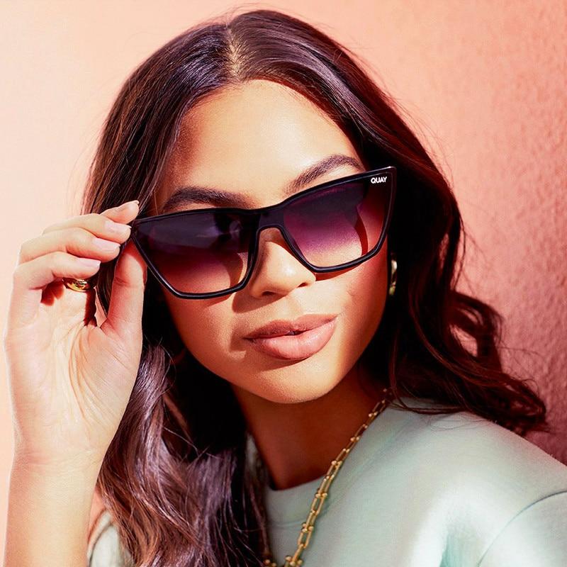 Sexy Cat Eye Sunglasses for Women Quay Brand Ladies Sunglasses Women Mirror On Point Eyewear Cateye