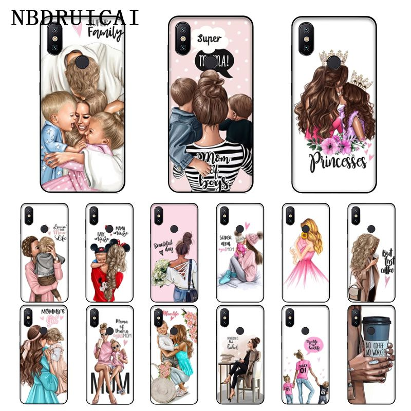 NBDRUICAI Super mamá y papá de los niños de alta calidad funda de teléfono para Xiaomi 8 9 se 5X Redmi 6pro 6A 4X 7 5plus Nota 5 7 6pro