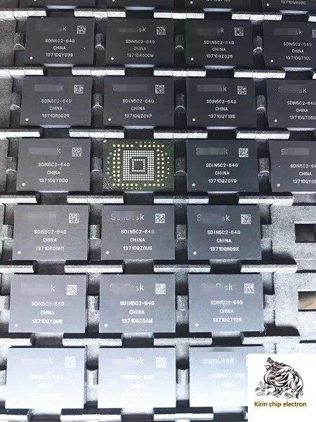 2 unids/lote SDIN8DE4-16G 16G BGA153 EMMC palabra biblioteca caché Chip SDIN8DE4