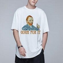 2019 Harajuku hauts t-shirt Streetwear Van Gogh peinture Style drôle Cool impression hommes t-shirt ample et confortable haut t-shirt