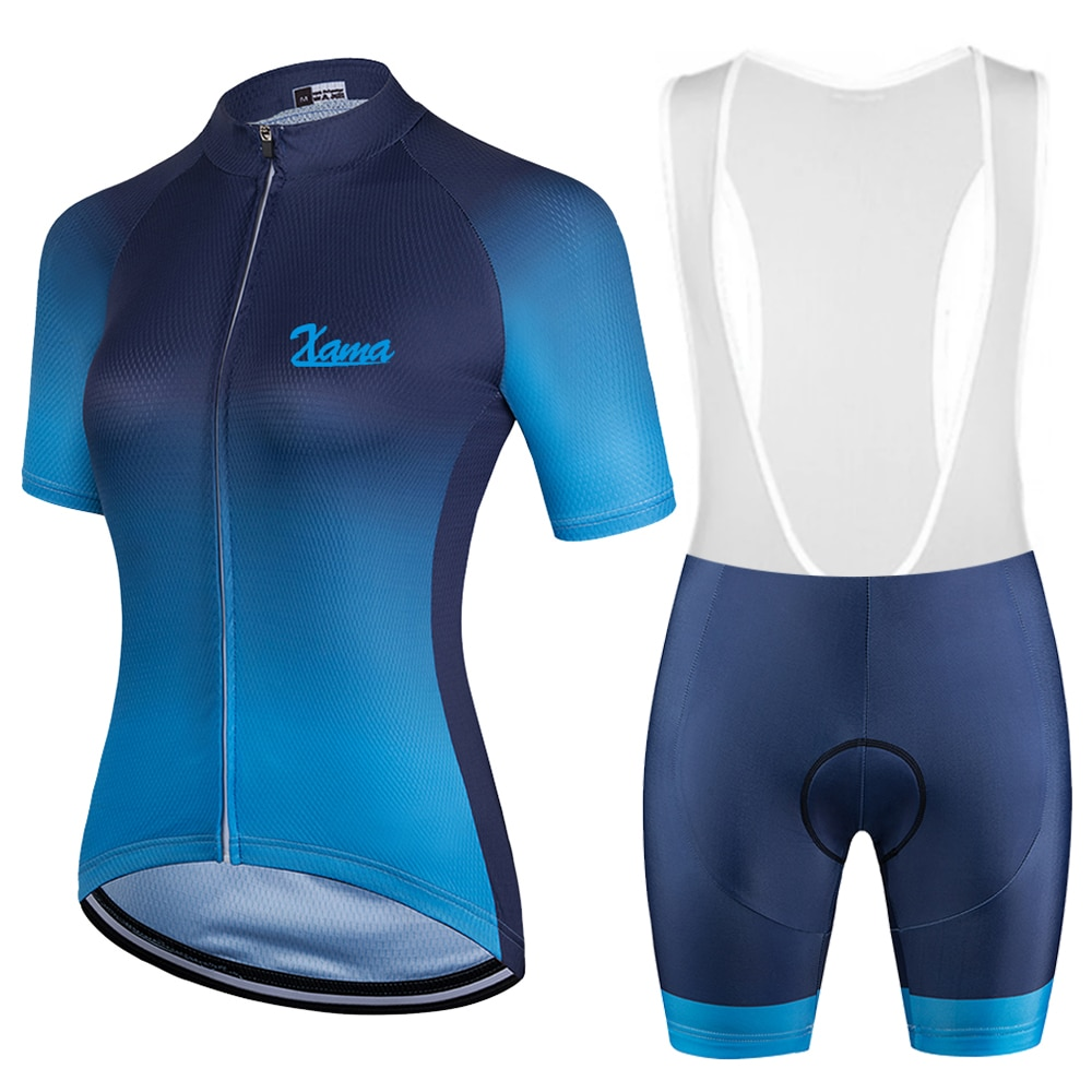 Xama-Conjunto de Jersey de Ciclismo profesional para Mujer Conjunto de ropa femenina...
