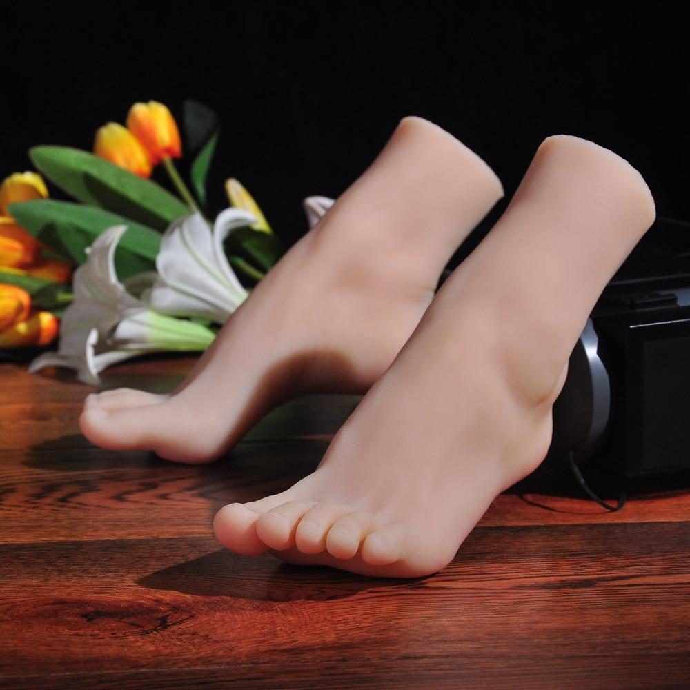 Simulación modelo de pie a pantalla accesorios pie de la terapia pintura enseñanza medias de seda