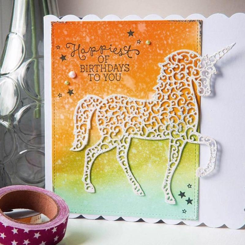 KLJUYP Unicorn Metal Cutting Dies Scrapbook Paper Craft Decoration dies scrapbooking