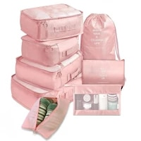 8 pieces set travel organizer storage bags packing cases portable container luggage clothes shoe tidy pouch suitcase