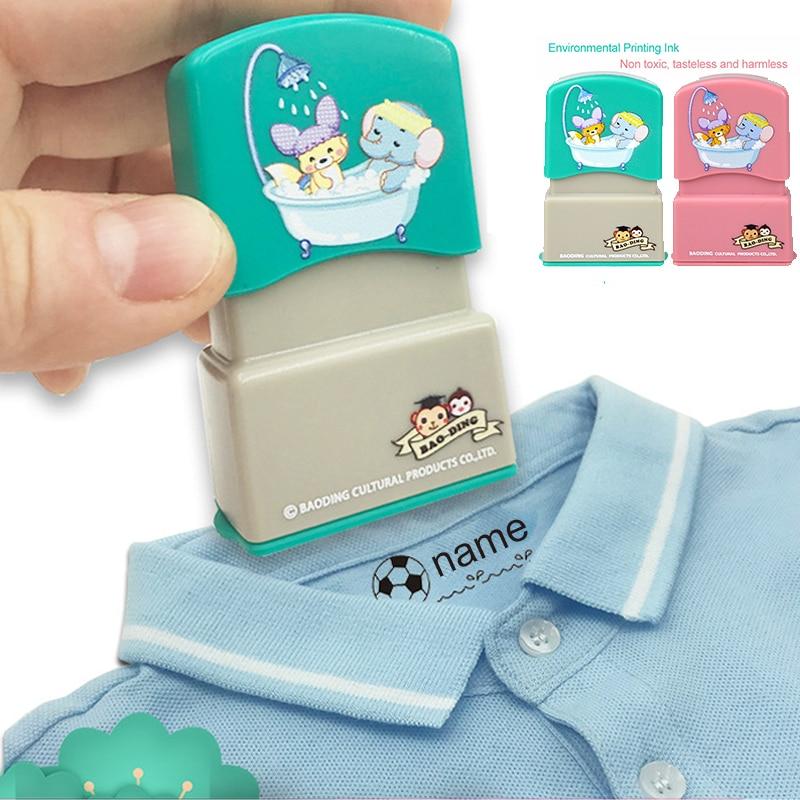 AliExpress - Baby Custom name stamp children teacher cartoon kindergarten all language name student clothes non-fading small animal inking