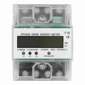 High Quality 3 Phase 4 Wire Electric Energy Meter DIN Rail 3x230/400V 5-80A Energy Meter Digital LCD Measuring Energy Meters