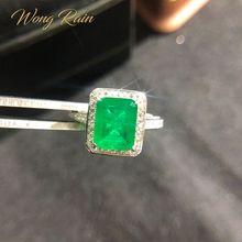 Wong Rain Vintage 925 en argent Sterling émeraude diamants pierres précieuses de mariage bague de fiançailles bijoux de qualité en gros livraison directe