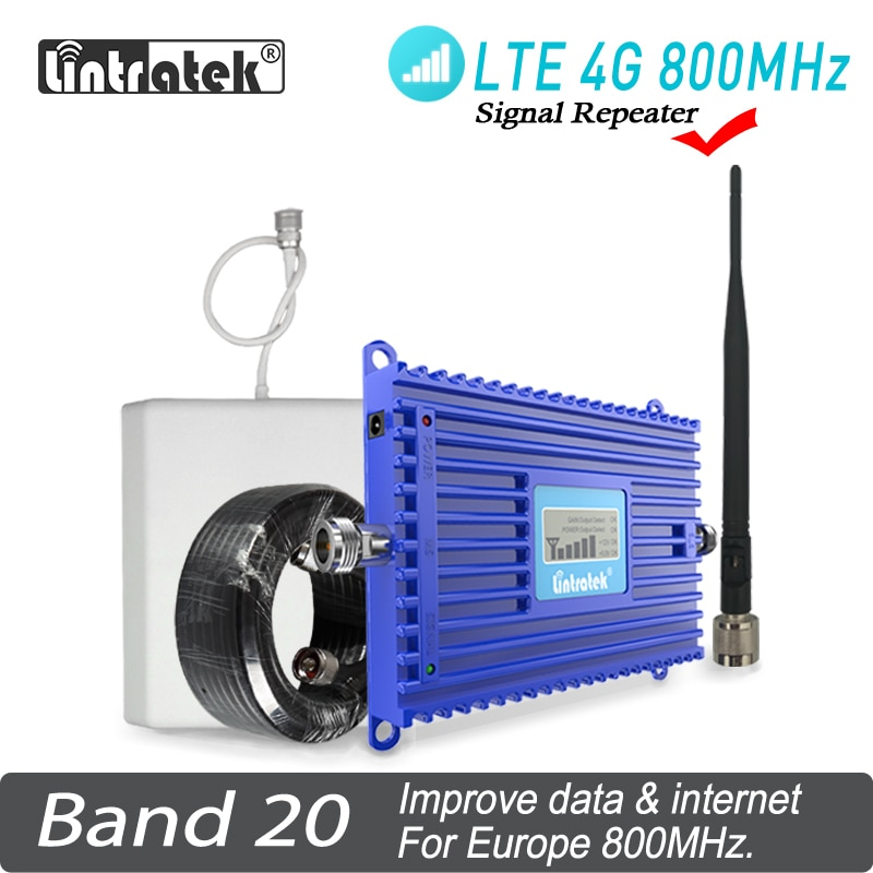 Band 20 4G 800MHz Signal Booster AGC Lintratek LTE LCD Display Mobile Phone Signal Repeater LTE AGC ALC Cell Phone Amplifier