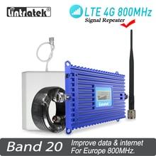 4G LTE 800MHz Signal Booster Band 20 AGC Lintratek LCD Display Handy Signal Repeater LTE AGC ALC handy Verstärker