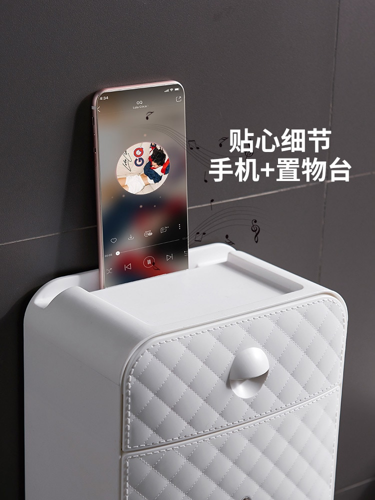 Creativity Toilet Paper Holders Wall Mount Double Layer Durable Toilet Roll Holder Universal Porta Rollos Home Storage DK50TP enlarge