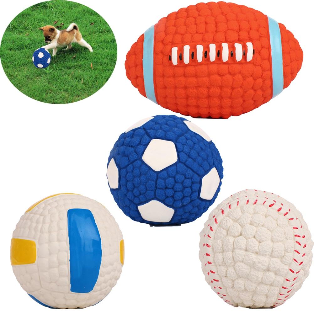 Cão de estimação brinquedos pequenos grandes cães chihuahua golden retriever natural látex bolas do cão anti mordida interativa brinquedos mastigar brinquedos