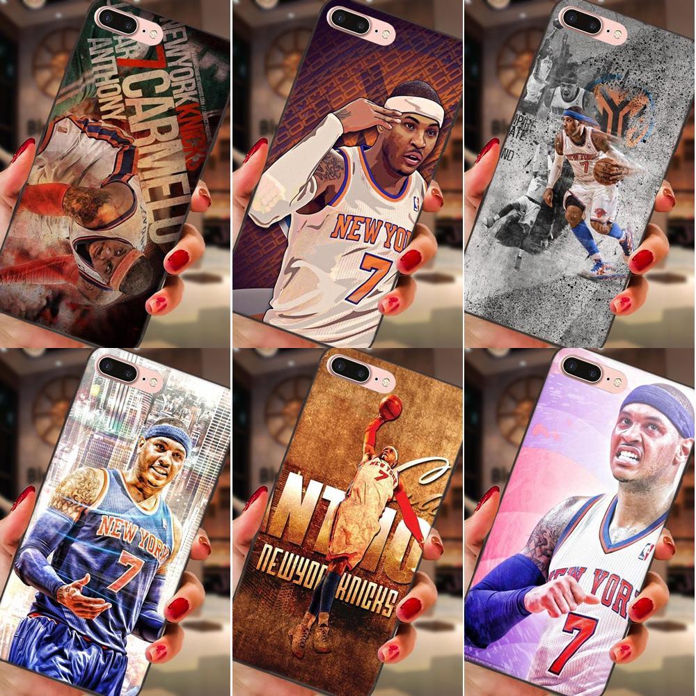 Soft Cell Cas Carmelo Anthony Melo 7 Pour Apple iPhone X XS Max XR 4 4S 5 5S SE 6 6S 7 8 Plus