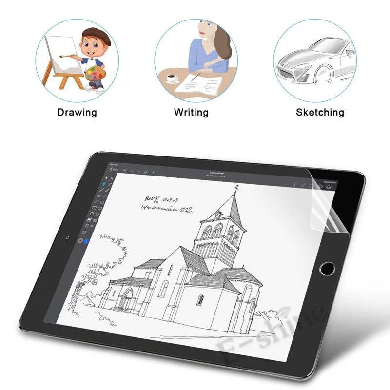 Like Paper Drawing Writting PET Matte Film for Apple iPad 10.2 inch 7th 8th Gen Feel Painting Write on Paper for iPad 8 7 Film