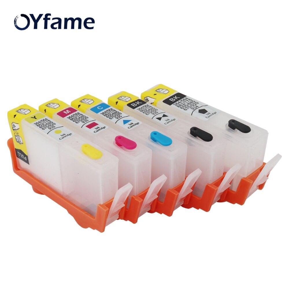 OYfame 564 картридж 5 шт. для HP 564 многоразовый картридж для HP 564 PhotosmartPlus B209a B210a 3522 5510 5511 B109a принтер
