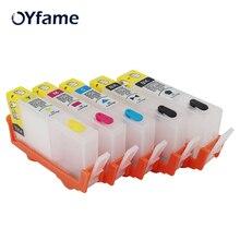 OYfame 564 cartucho 5 uds para HP564 cartucho de tinta rellenable para HP 564 PhotosmartPlus B209a B210a 3522, 5510 de 5511 B109a impresora
