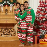 christmas moose family matching clothes pajamas set new year costume mother daughter sleepwear family outfit kid baby nightwear