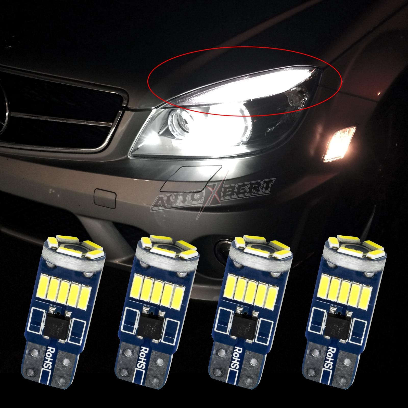 Bombilla LED blanca de xenón para párpados de Mercedes Benz, reemplazo de...