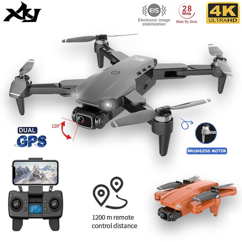 XKJ L900PRO نظام تحديد المواقع بدون طيار 4K المزدوج HD كاميرا المهنية التصوير الجوي فرش السيارات طوي كوادكوبتر أجهزة الاستقبال عن بعد البعيدة e1200m