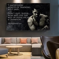 poster muhammad ali motivational quote wall art canvas painting nordic inspirational sport picture for living room decoration
